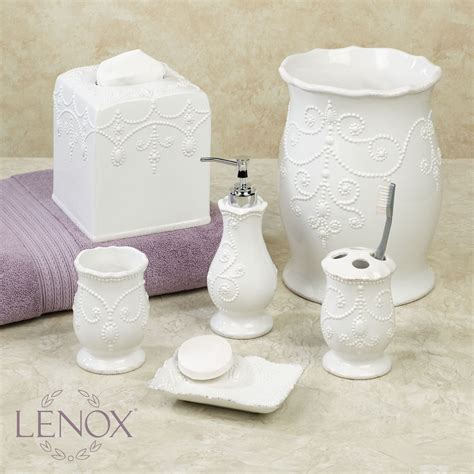 Lenox Bathroom Accessories Lenox Perle White Bath Accessories