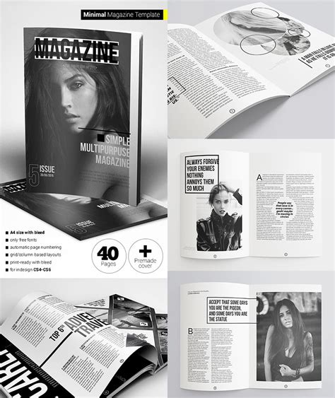 pages magazine template 20 magazine templates with creative print layout designs