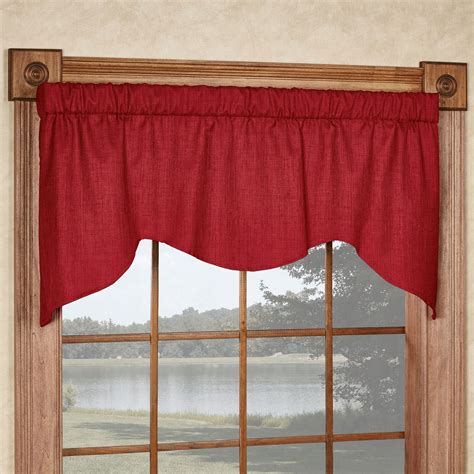 Solid Window Valances Solid Color M Shaped Window Valance