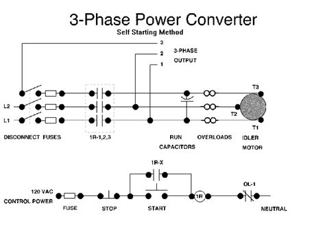 3 phase to single phase wiring diagram single phase to 3 three phase converter circuit diagram