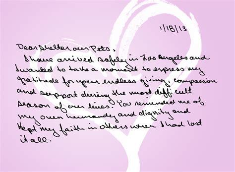 heartfelt thank you letter heartfelt thank you shelter our pets