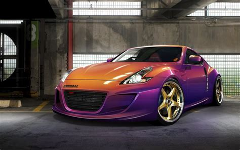 nissan 370z custom paint chameleon paint 370z purple orange custom nissan car