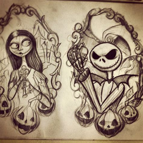 nightmare before christmas couples tattoos nightmare before flash sheet progress t