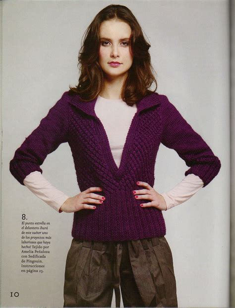 modelos de sweaters en dos agujas de mis manos tejidos y sweater escotado con punto estrella iknitts com