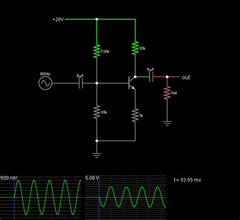 transistor as lifier with common emitter common emitter lifier circuit simulator