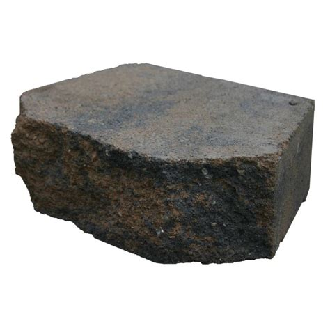 basalite 12 in charcoal retaining wall block