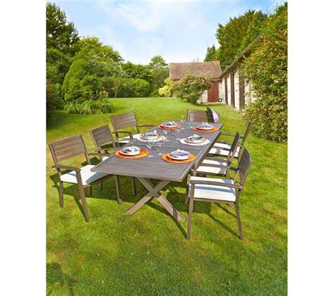 carrefour table de jardin extensible honfleur prix promo