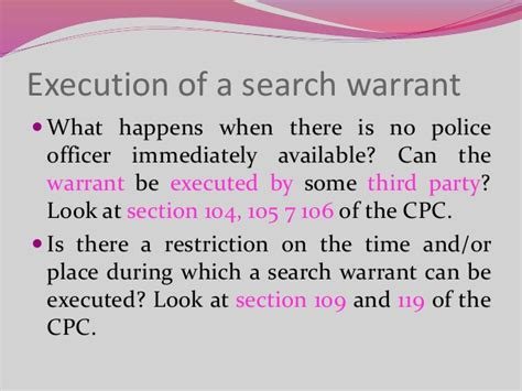 Section 8 Search Warrant Searches Criminal Procedure In Kenya
