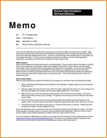 How To Write A Memo Template by Memo Template Format Bestsellerbookdb