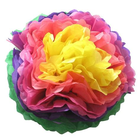 How To Make A Mexican Paper Flower - how to make tissue paper pom poms flowers shindigs