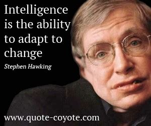 stephen william hawking thoughts ability to adapt quotes quotesgram