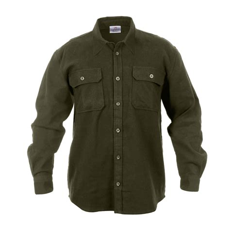 heavyweight brawny flannel shirt solid colors