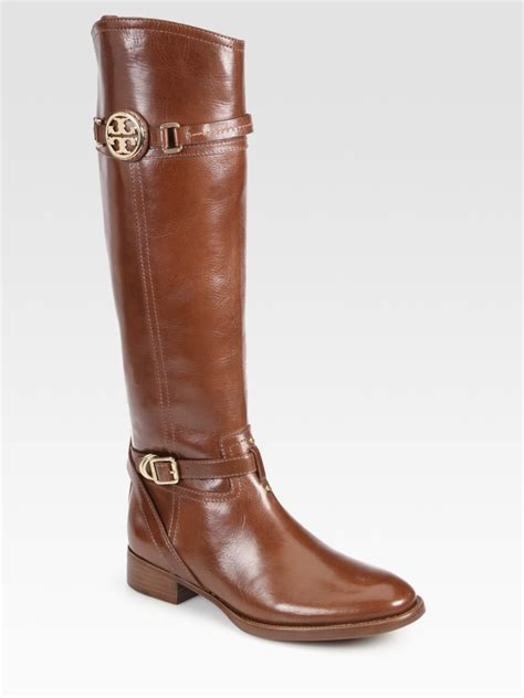 burch boots burch calista leather boots in brown lyst