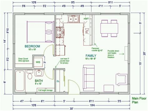 house plan layouts 20x30 house floor plans 30x30 cabin floor plans guest