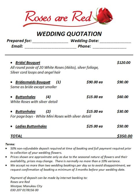 Wedding Quotations by Wedding Quote Exle