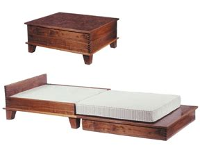 Guest Bed Table Coffee Table That Transforms Into A Guest Bed Tiny House