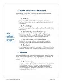 how to write white paper template how to write a white paper