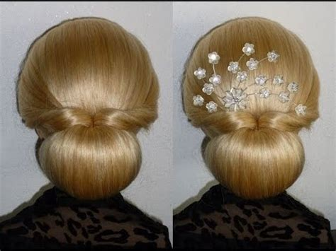 updo hairstyles with donut easy und quick prom wedding hairstyle donut hair bun updo