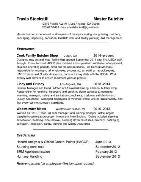 Resume Skills And Abilities Examples by Resume Master Butcher