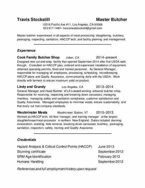 Safety Resume Sample