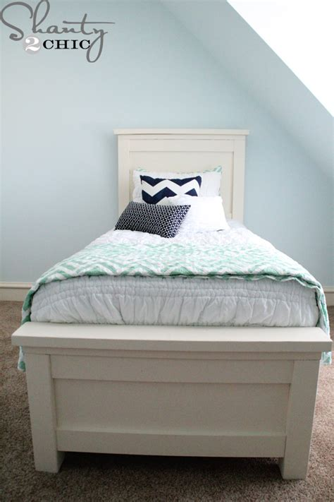 how to build a storage bed diy twin storage bed shanty 2 chic