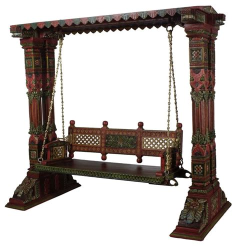 indian swing furniture wooden swing set with brass chain asian hammocks and
