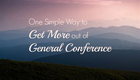 getting more out of mass something more faith series books one simple way to get more out of general conference
