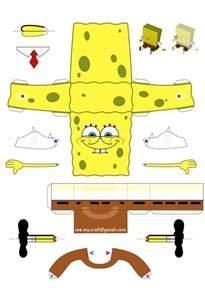 papercraft template papertoy de bob l eponge paper fr