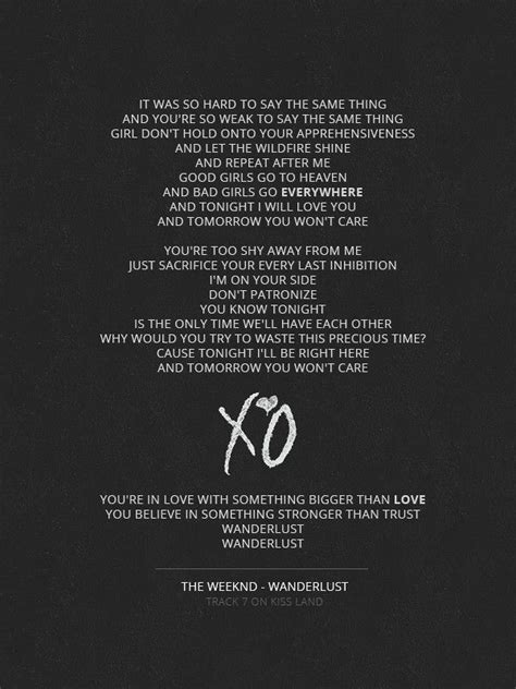 weeknd lyrics 78 best images about the weeknd lyrics on pinterest kiss