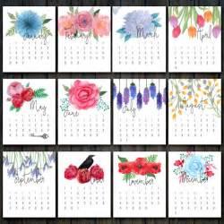 Calendar 2018 Printable Floral 2017 Printable Floral Calendar Desk Calendar 2017