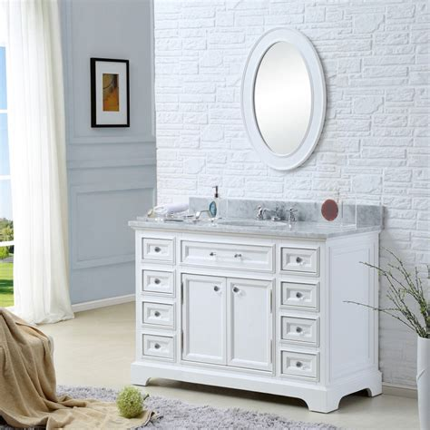 derby 48 inch traditional bathroom vanity marble