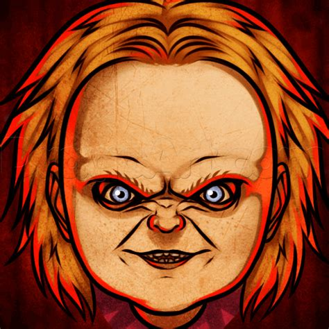 easy drawing how to draw chucky easy step by step pop culture free drawing