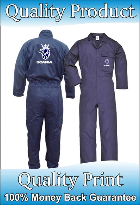 navy new scania volvo portwest boilersuit stud