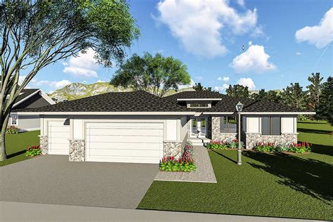 two bedroom ranch house plans two bedroom contemporary ranch house plan 890049ah