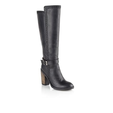 buy ravel vancouver knee high boots in black