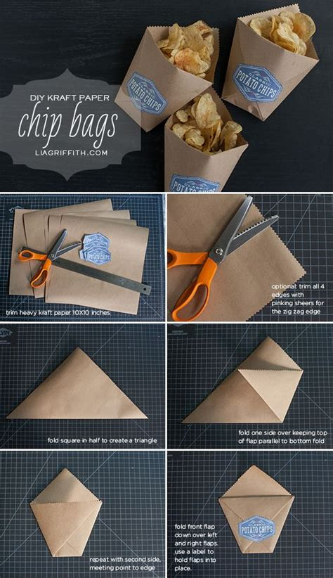 Fold A Paper Bag - best 25 chip bags ideas on diy paper bag
