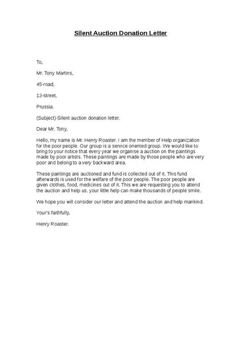 charity auction letter template sle letter asking for donations school raffle cover