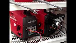 honda eu2000i generators with apc transfer switch youtube