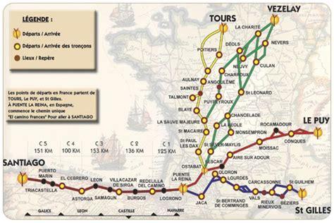 Chemin De St Jacques De Compostelle ã Vã Route De Jean De Compostelle Voyages Cartes