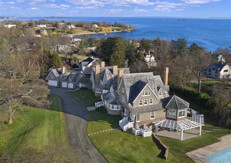 houses for sale in connecticut and on long island the belle haven shingle style overlooking long island sound a