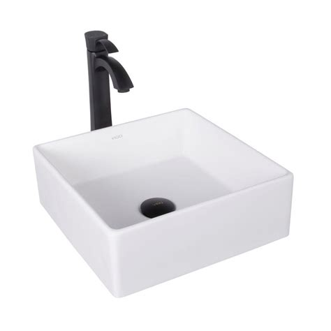 Black And White Vessel Sink by Vigo Dianthus Matte Vessel Sink And Otis Bathroom
