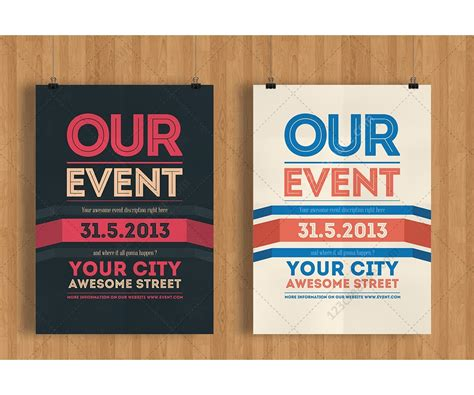 Our Event Flyer template   modern clean and minimal poster