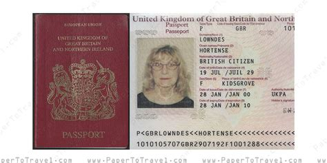 british passport united kingdom  great britain