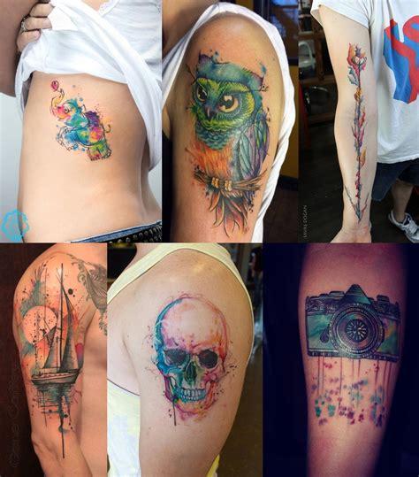 watercolor tattoo inspira 231 245 es de tatuagem em aquarela