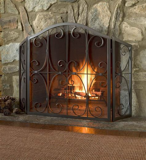 tri fold fireplace screen with doors 25 best ideas about fireplace screens on