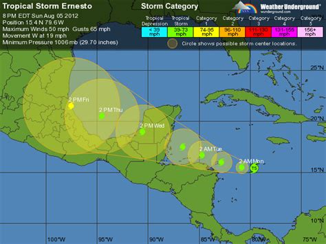 Sweater Underground Tropical Hurricane Ernesto S Potential Paths