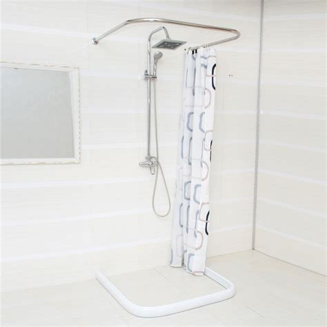 u shaped curtain pole u shaped bathroom shower curtain rod shower curtain rod