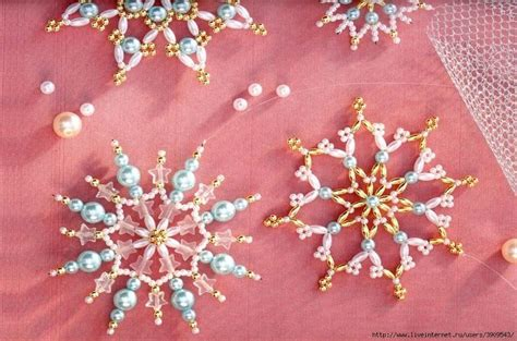beaded snowflake patterns free beaded snowflakes pattern plus others beaded