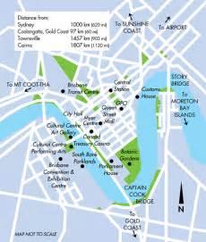 Brisbane Botanical Gardens Map Brisbane City Map Queensland Australia
