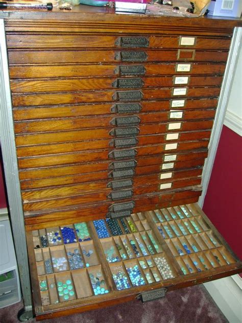 bead storage ideas this antique typesetter s cabinet is for my